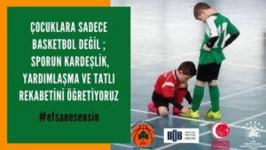 Çocuklara sporun kardeşlik, yardımlaşma ve tatlı rekabetini öğretmeliyiz